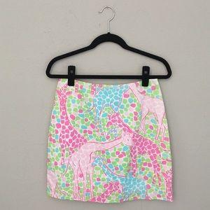 🌷 Lilly Pulitzer ✦ Giraffe Print Skirt ✦ Pastels